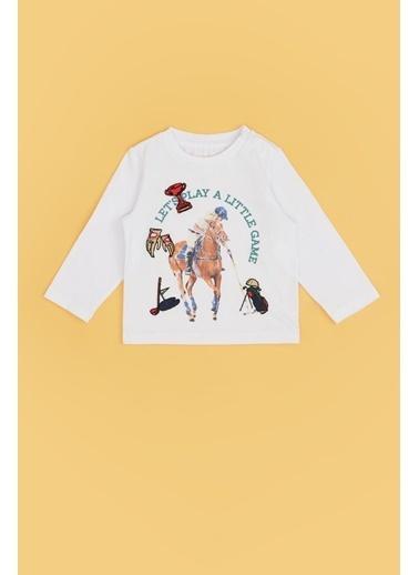 BG Baby Erkek Bebek Beyaz T-Shirt 20Pfwbg1504 Beyaz